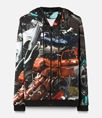 Christopher Kane Car Crash Hoodie Black