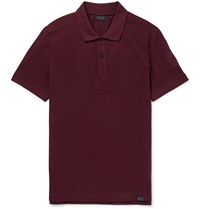 Belstaff Pearce Slim Fit Cotton Pique Polo Shirt Burgundy