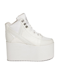 Yru Qozmo Hi White Mega Platform Shoes