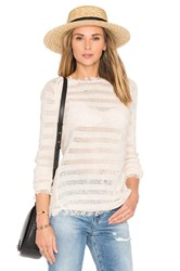 Inhabit Fringe Stripe Sweater Ivory