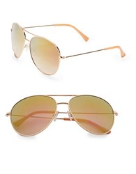 Vince Camuto 63Mm Aviator Sunglasses Rosegold