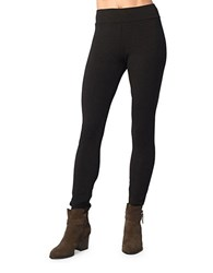 Kensie Textured Stretch Leggings Black