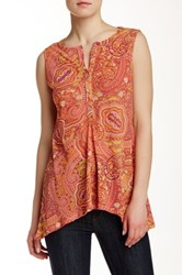 Sweet Pea Printed Tunic Tank Multi