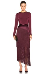 Tamara Mellon Dress Jersey Bodysuit In Red Purple