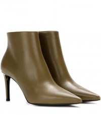 Balenciaga Leather Ankle Boots Green