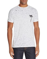 Sub Urban Riot Splatter Palm Tree Graphic Tee White
