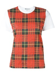 Comme Des Garcons Checked Shortsleeved T Shirt Multicolour
