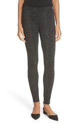 Joie Women's 'Keena' Leopard Print Leggings Caviar Heather Charcoal