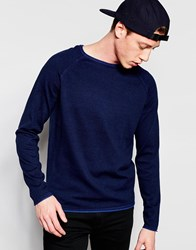 Jack And Jones Jack And Jones Raglan Crew Neck Knit Blue