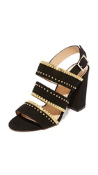 Charlotte Olympia Laurence Sandals Black Gold