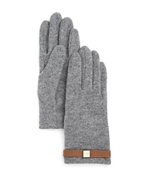 Lauren Ralph Lauren Tech Belt Gloves Gray Heather