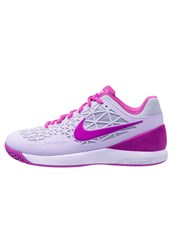 Nike Performance Zoom Cage 2 Outdoor Tennis Shoes Bleached Lilac Hyper Violet Light Silver Rose
