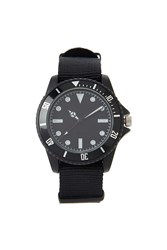 Forever 21 Men Nylon Strap Watch Black