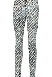 Proenza Schouler Printed Mid Rise Skinny Jeans White