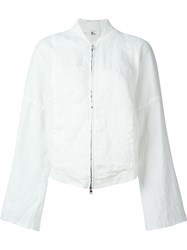 Lost And Found Rooms Kimono Sleeve Bomber Jacket White