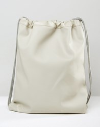 Mi Pac Tumbled Leather Look Kit Bag In Light Grey Grey