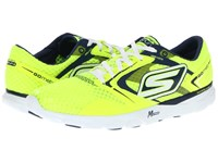 Skechers Go Run Speed Lime Blue Women's Lace Up Casual Shoes Yellow