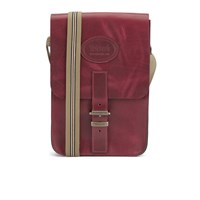 Tricker's Men's Small Leather Satchel Bag Lollipop Red