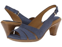 Softspots Neima Blue Summer Linen Women's Dress Sandals