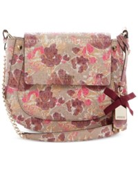 Guess Marian Crossbody Saddle Bag Floral Multi