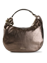 Jimmy Choo 'Solar' Hobo Shoulder Bag Metallic
