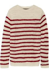 The Elder Statesman Picasso Striped Cashmere Sweater Off White
