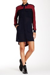 L.A.M.B. Hi Lo Shirt Dress Multi