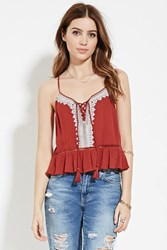 Forever 21 Embroidered Gauze Cami