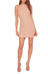 Missguided Women's Lace High Neck Mini Dress