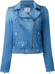 Diesel Denim Biker Jacket Blue