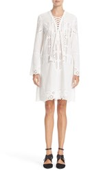 Yigal Azrouel Women's Eyelet Embroidered Cotton Dress