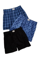 Lucky Brand Woven Boxer Pack Of 3 Blue