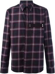 Givenchy Plaid Print Shirt Pink And Purple
