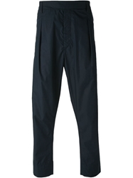 Lemaire Front Pleat Tapered Trousers Blue