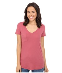 Lamade V Pocket Tee Tissue Jersey Sienna Rose Women's Short Sleeve Pullover Pink