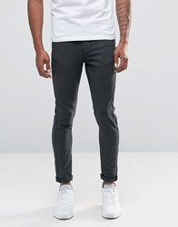 New Look 5 Pocket Skinny Jeans In Charcoal Charcoal Grey
