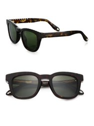 Givenchy 48Mm Wayfarer Sunglasses Tortoise Green