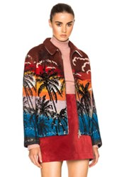 N 21 No. Tropical Cardigan In Red Abstract Red Abstract