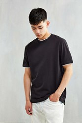 Cpo Fielder Pique Tipped Tee Washed Black