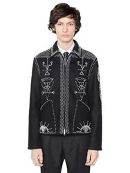 Valentino Beads Embellished Wool Cloth Jacket