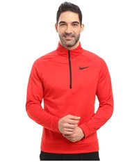 Nike Therma 1 4 Zip Pullover University Red Black Men's Clothing