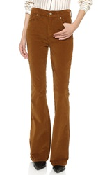 7 For All Mankind Fashion Flare Pants Cognac