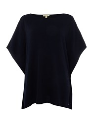 Barbour Brae Knitted Cape Navy