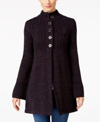 Styleandco. Style Co. Petite Mock Neck Sweater Coat Only At Macy's Grape Black