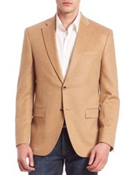 Saks Fifth Avenue Two Button Front Cashmere Blazer Beige