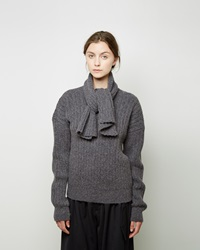J.W.Anderson Ribbed Scarf Sweater Grey