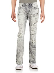 Cult Of Individuality Rebel Distressed Straight Leg Jeans Pailot