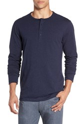 Patagonia Men's 'Daily' Long Sleeve Organic Cotton Henley Navy Blue