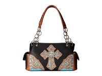 Mandf Western Glitter Cross Satchel Bag Black Satchel Handbags