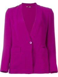Etro Stand Up Collar Blazer Pink And Purple